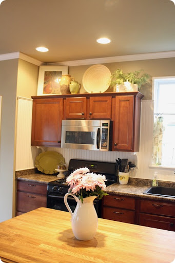 Best How To Decorate Above Kitchen Cabinets From Thrifty Decor This Month