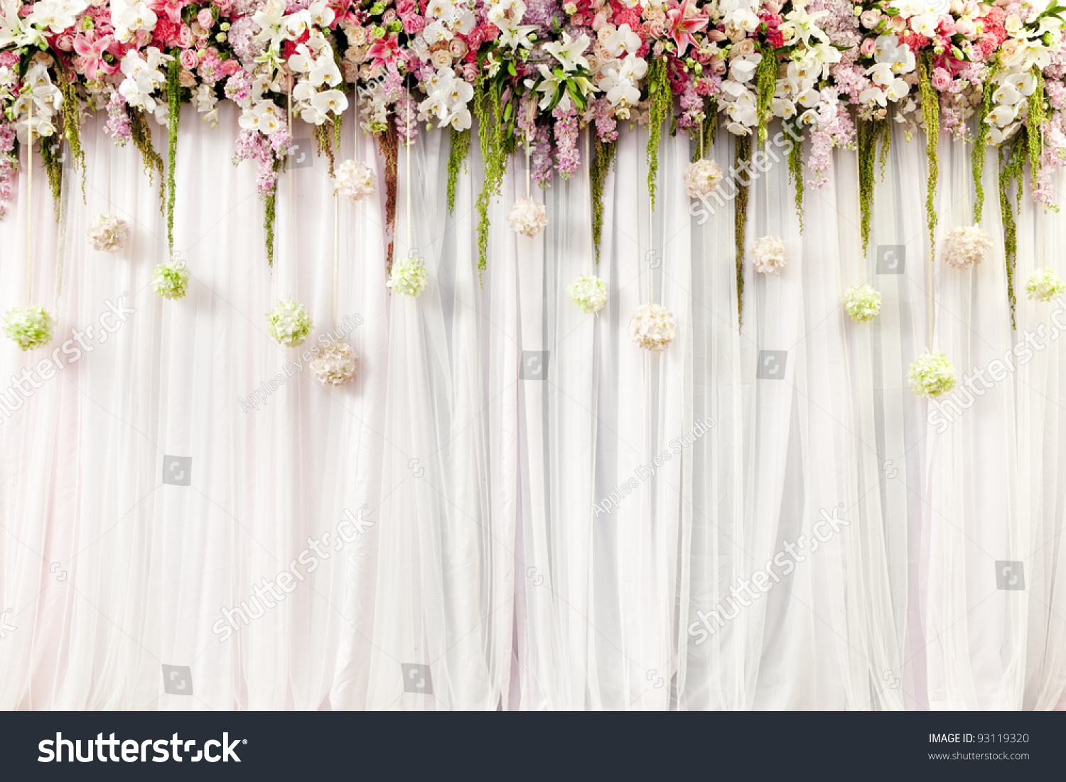 Best Beautiful Flower Wedding Decoration Stock Photo 93119320 This Month