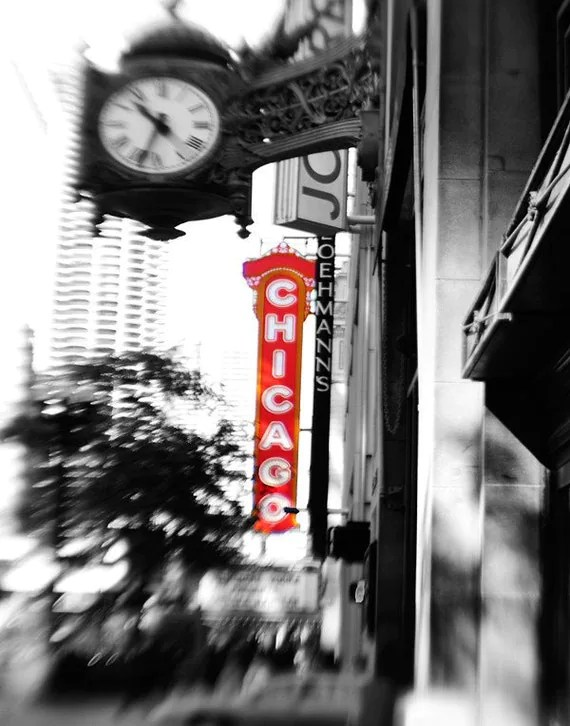 Best Chicago Photograph Home Decor Chicago Marquee By Traceycapone This Month