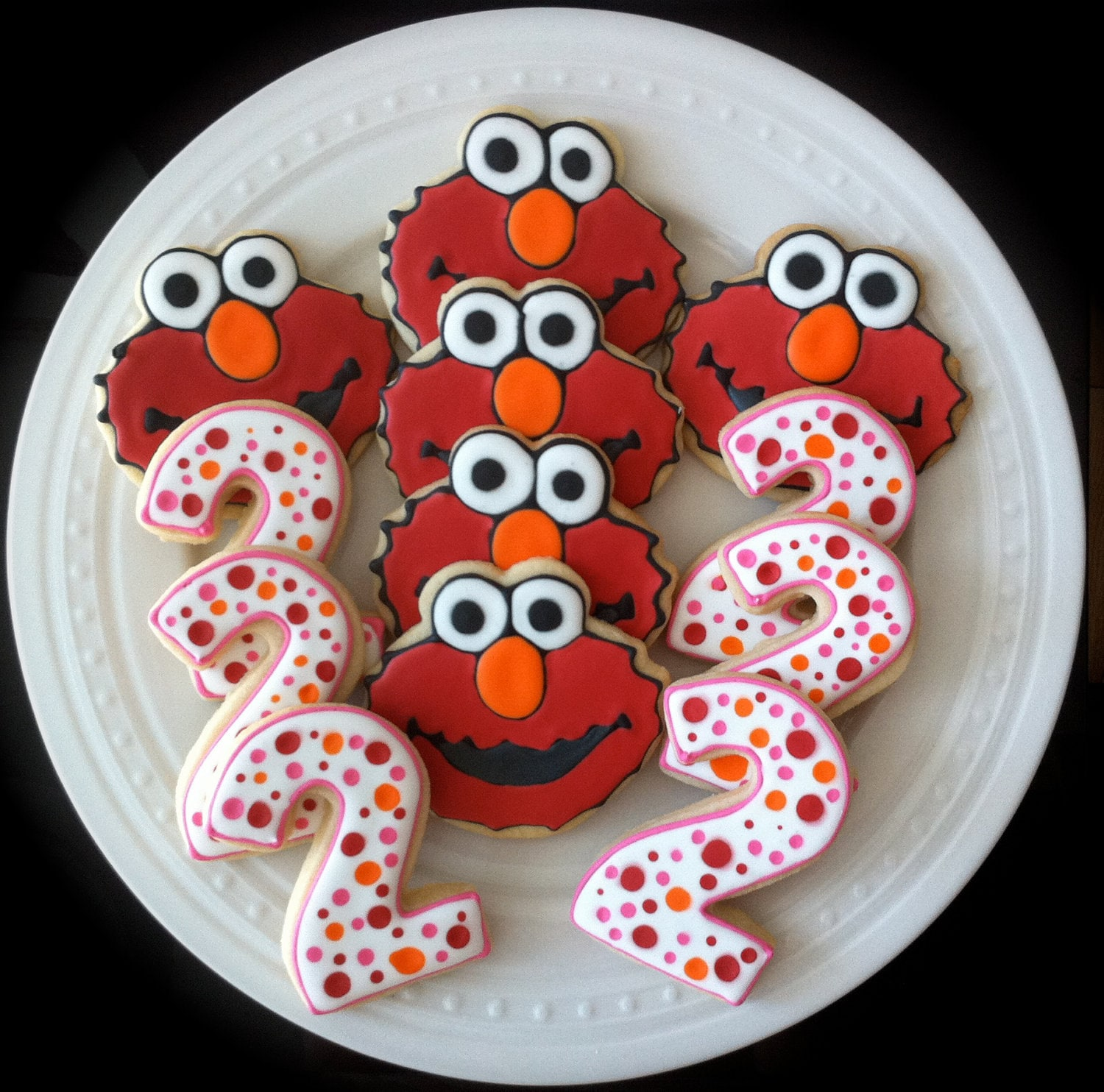 Best Items Similar To Decorated Custom Elmo And Pink Number This Month