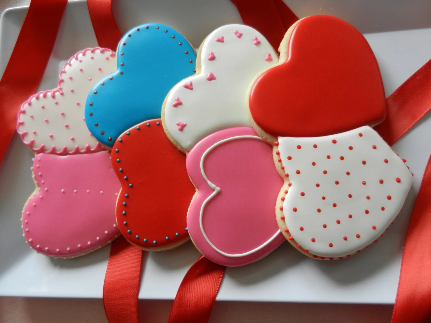 Best Items Similar To Large Double Heart Cookies One Dozen This Month