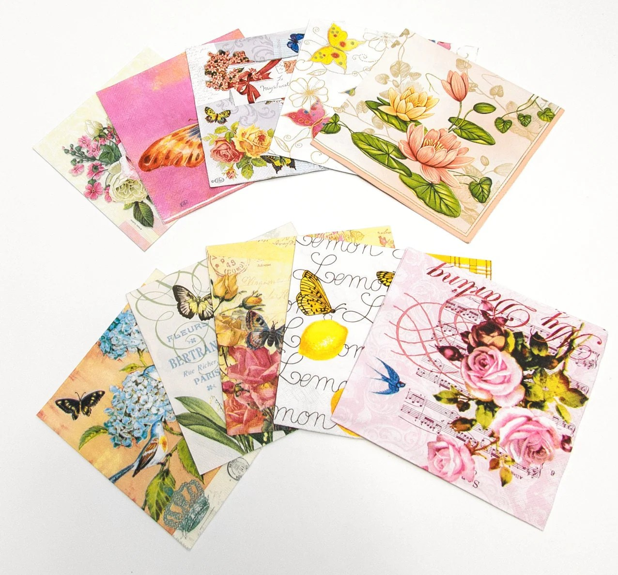 Best Decorative Paper Napkins For Decoupage Or Other By Tilissimo This Month