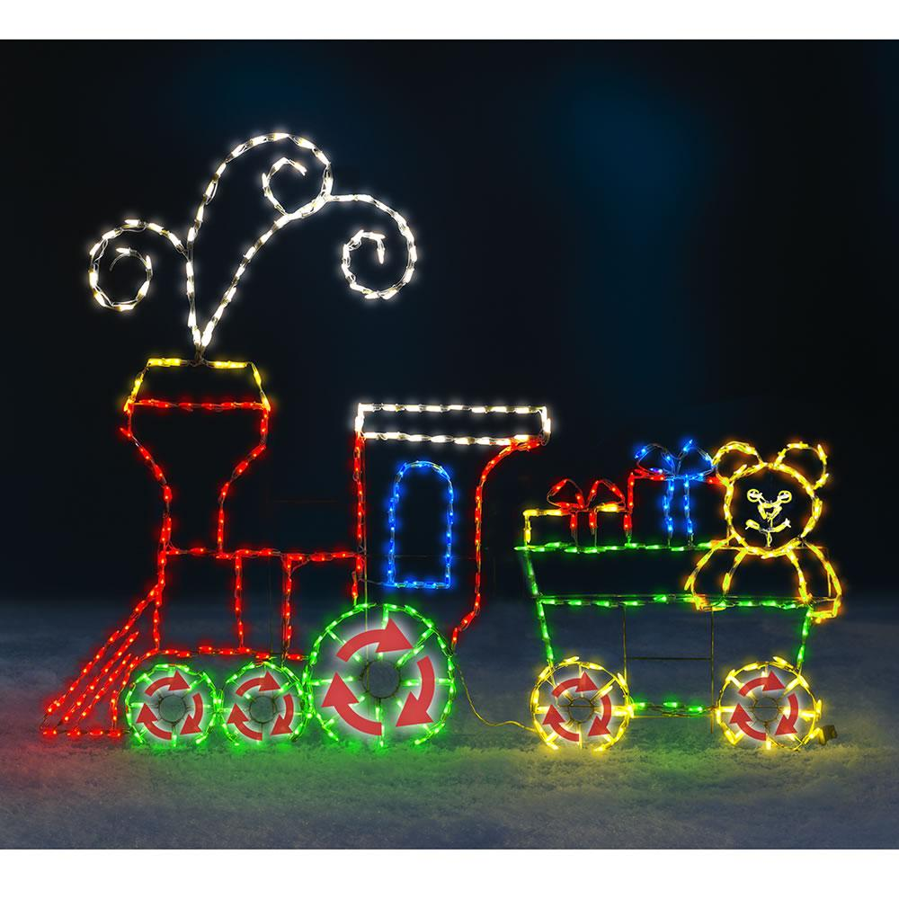 Best The 6 Foot Animated Holiday Locomotive Outdoor Christmas This Month