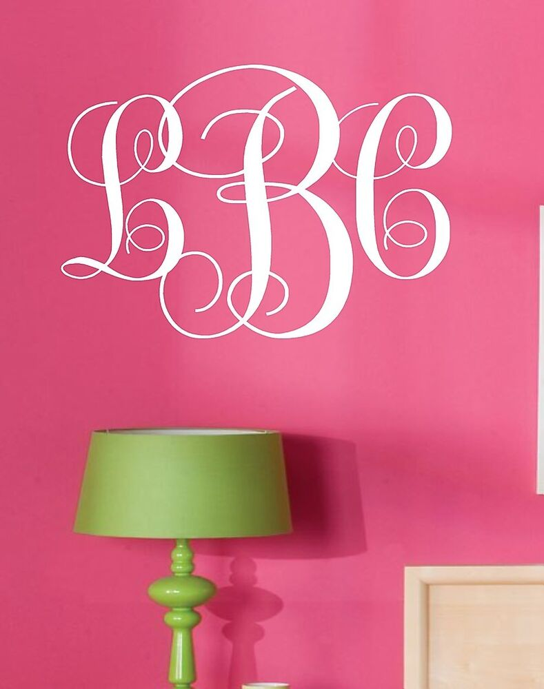Best Monogram Initials Vinyl Wall Decal Lettering Words This Month