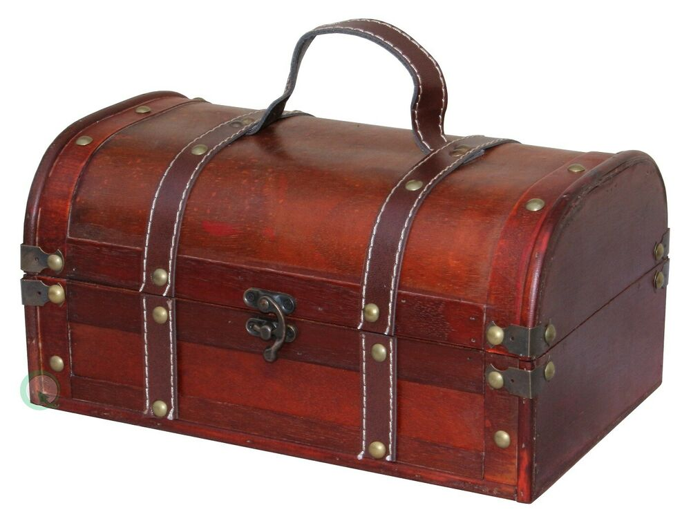 Best Decorative Wood Treasure Box Wooden Trunk Chest Ebay This Month