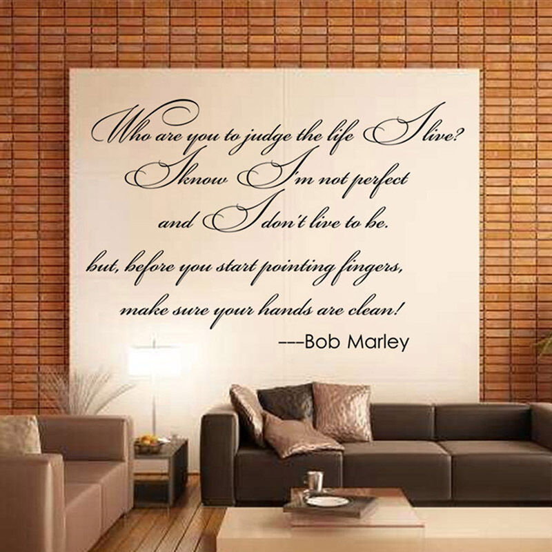 Best Sentence Bob Marley Letter Quote Words Art Deco Home Room This Month