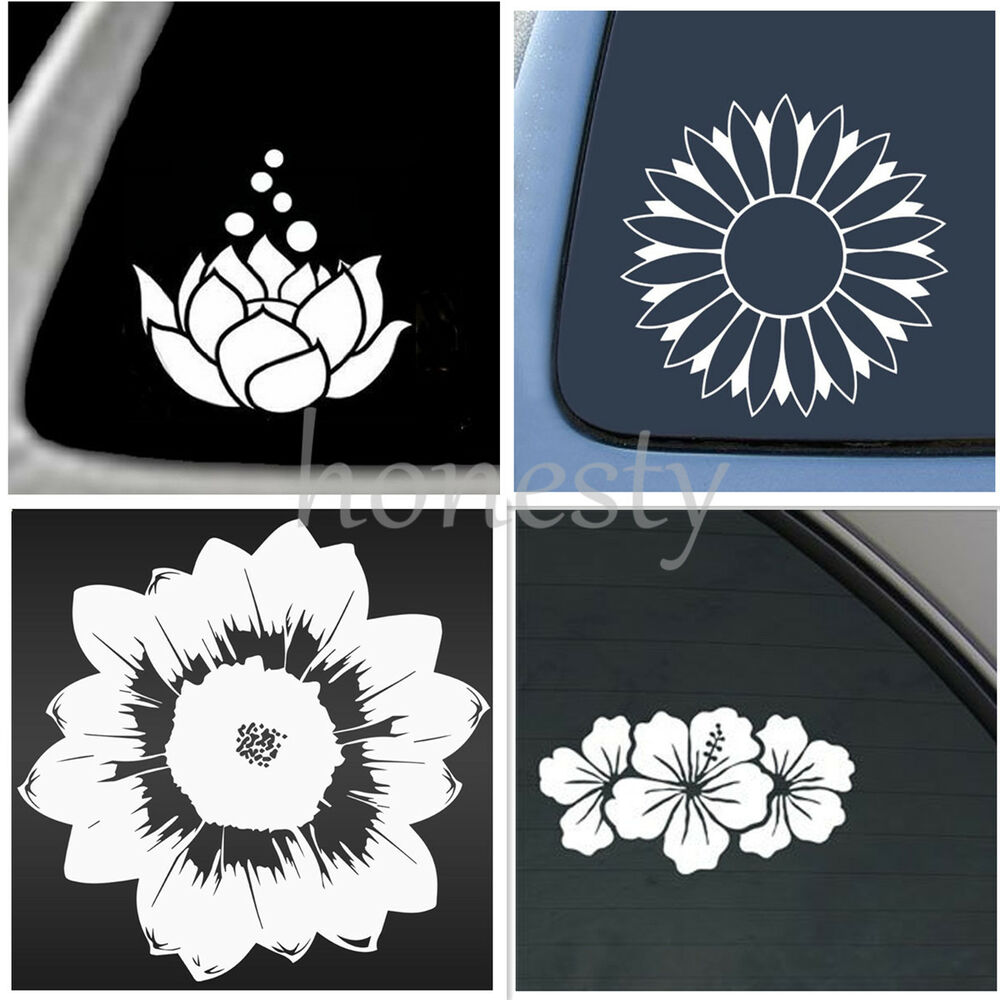 Best 4 Style Flower Prints Sticker Vinyl Decal Car Window Wall This Month