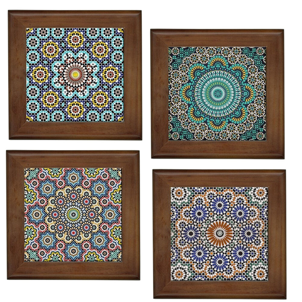 Best Moroccan Patterns Home Decorative Ceramic Framed Tile Wall This Month