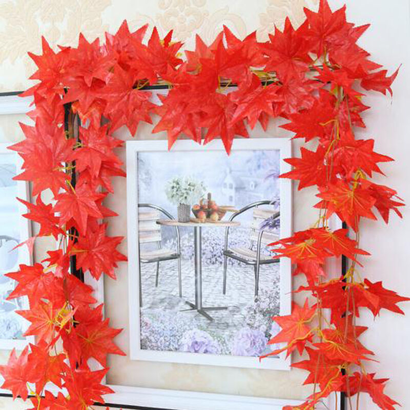 Best Artificial Maple Leaf Garland Silk Autumn Fall Leaves This Month