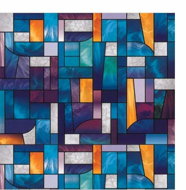 Best Abstract Stained Glass Decorative Window Film Self This Month