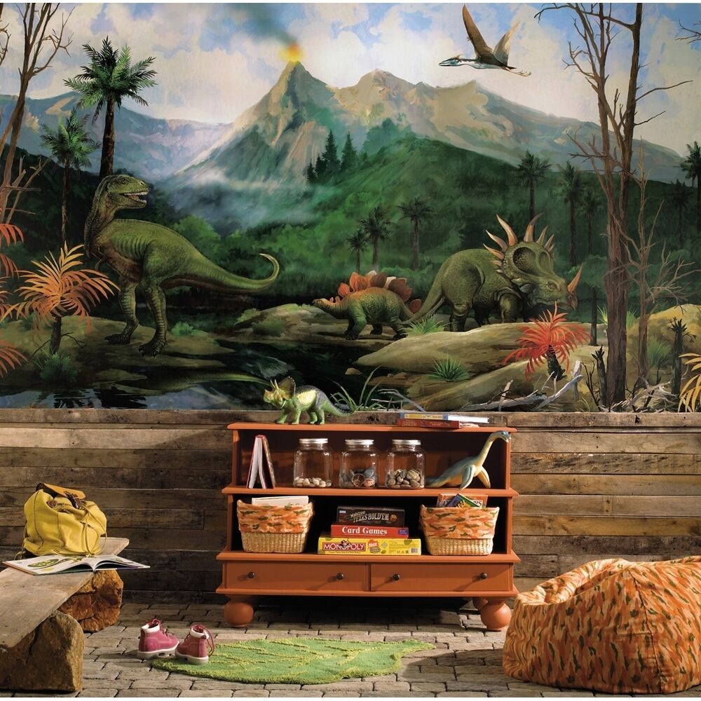 Best New Xl Dinosaurs Prepasted Wallpaper Mural Boys Bedroom This Month