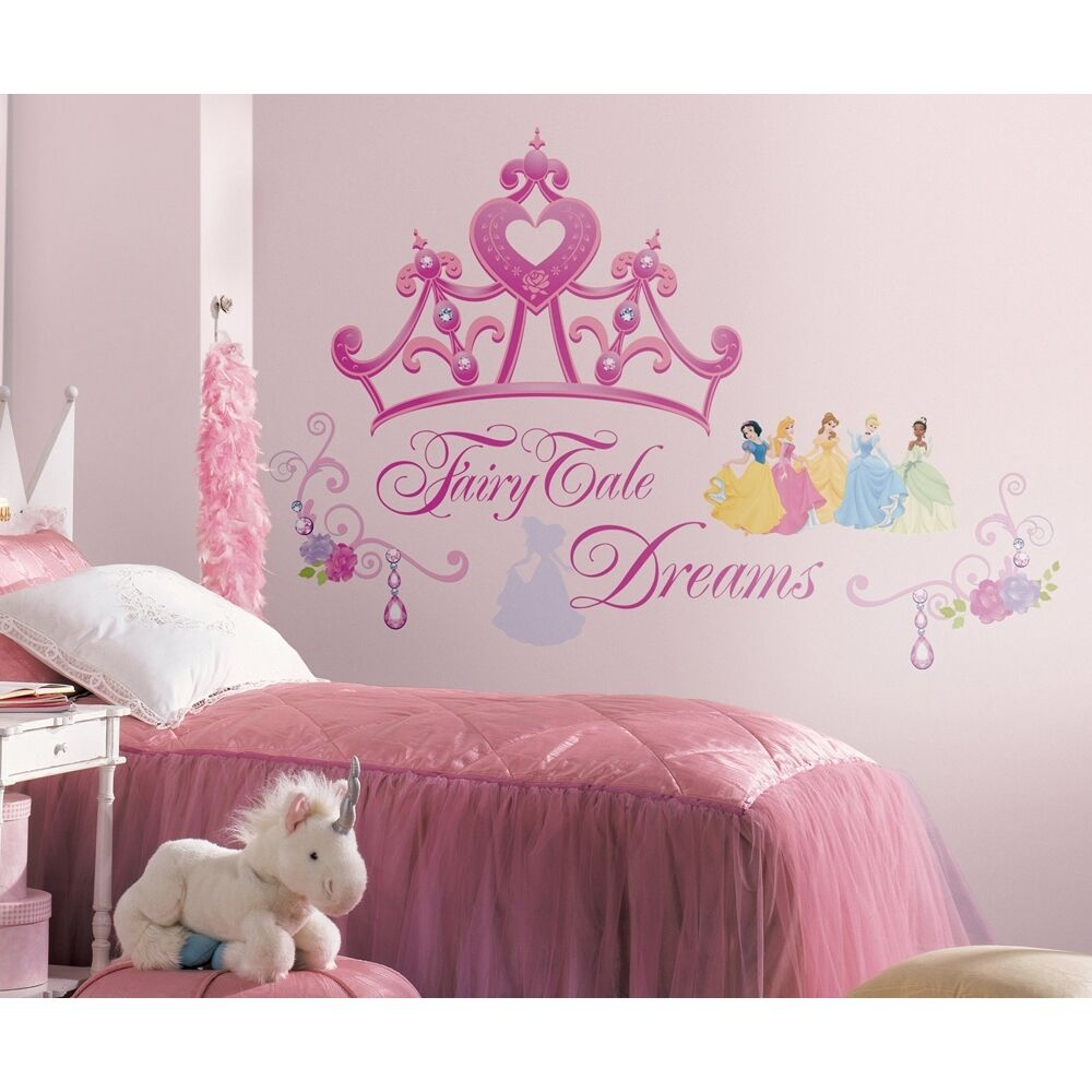 Best New Disney Princess Crown Giant Wall Decals Girls Stickers This Month