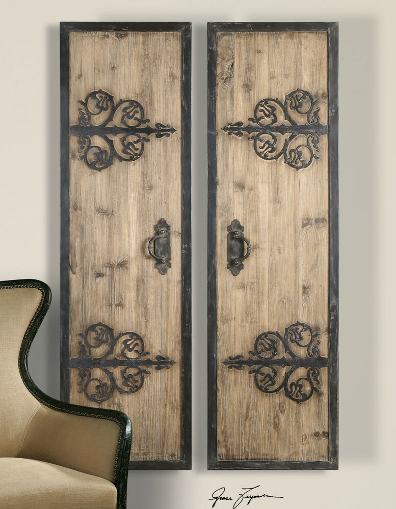 Best Two 71 Rustic Oversized Decorative Wall Panels Doors This Month