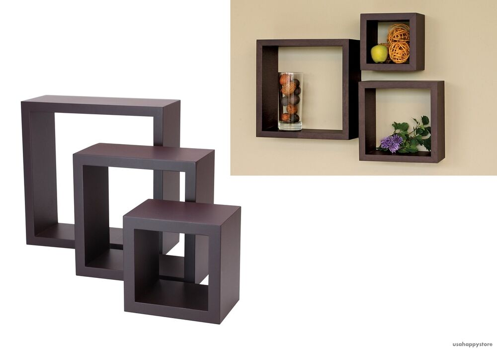 Best Floating Wall Shelves Wood Cube Set Of 3 Vintage This Month