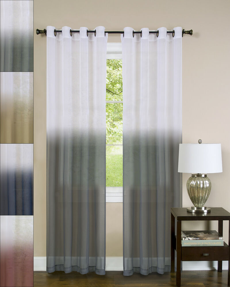 Best Essence Two Tone Sheer Ombre Decorative 52 X 84 Window This Month