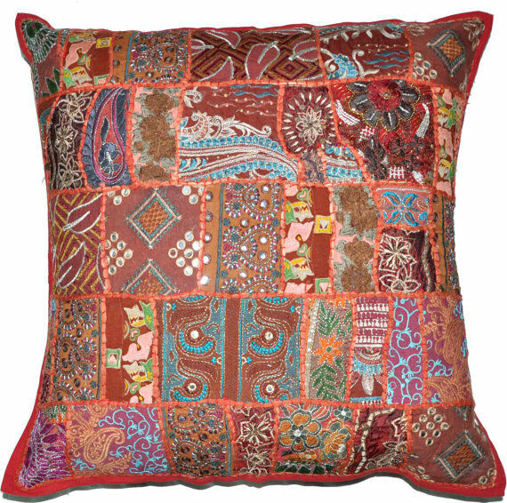 Best 24X24 Throw Pillows Sofa Embroidered Indian Pillow This Month