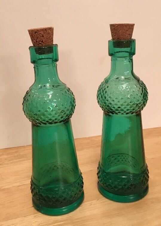 Best Vintage Decorative Colored 4 5 Glass Bottles With Corks This Month