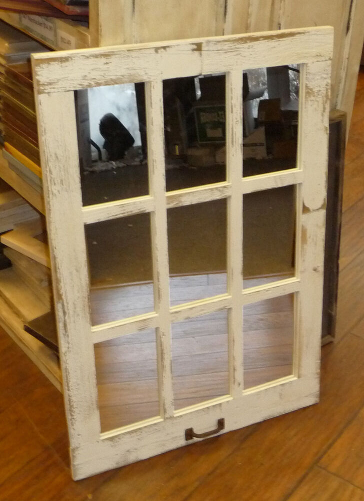 Best Barn Wood 9 Pane Window Mirror Vertical Rustic Home Decor This Month