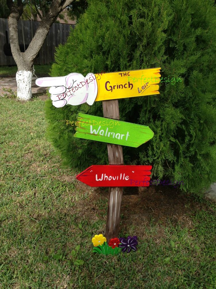 Best Grinch Sign Whoville Christmas Yard Art Decoration Decor This Month