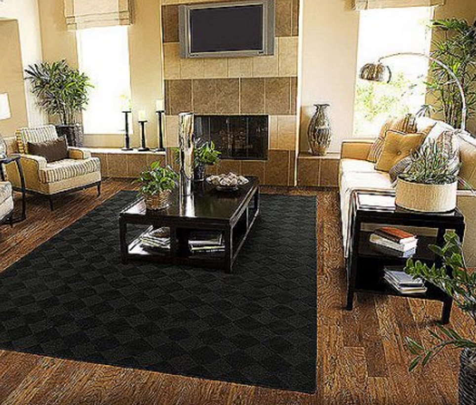 Best Solid Black Area Rug Carpet 5 X 7 Size Rugs Floor Decor This Month