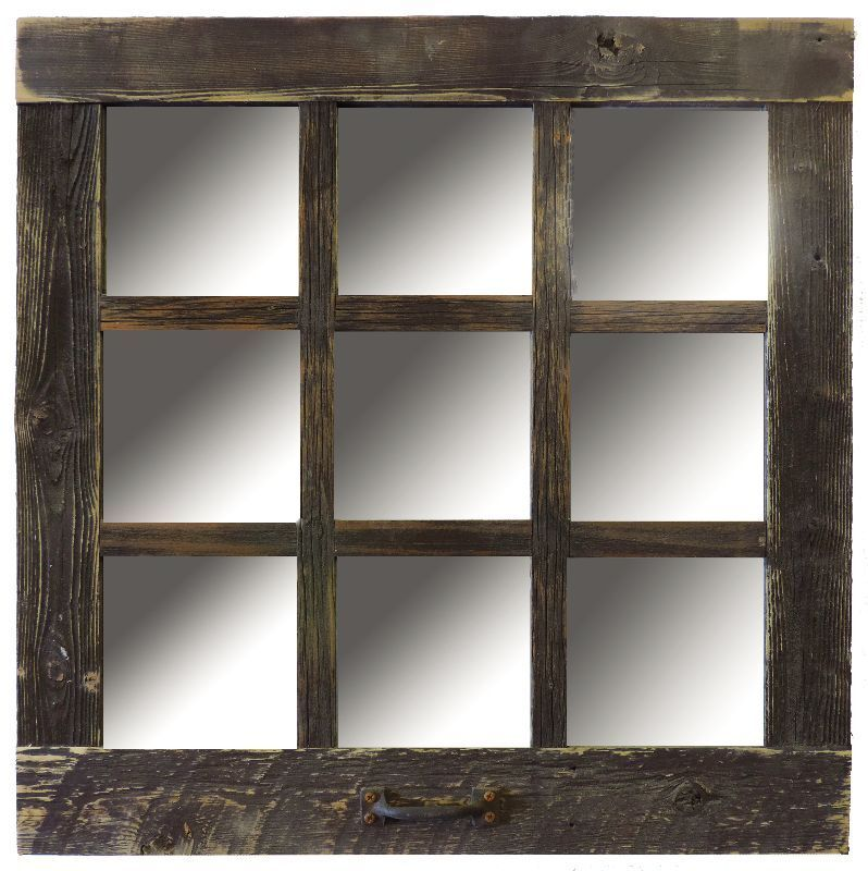 Best New Rustic Farmhouse Barn Wood Antique Style 9 Pane Window This Month