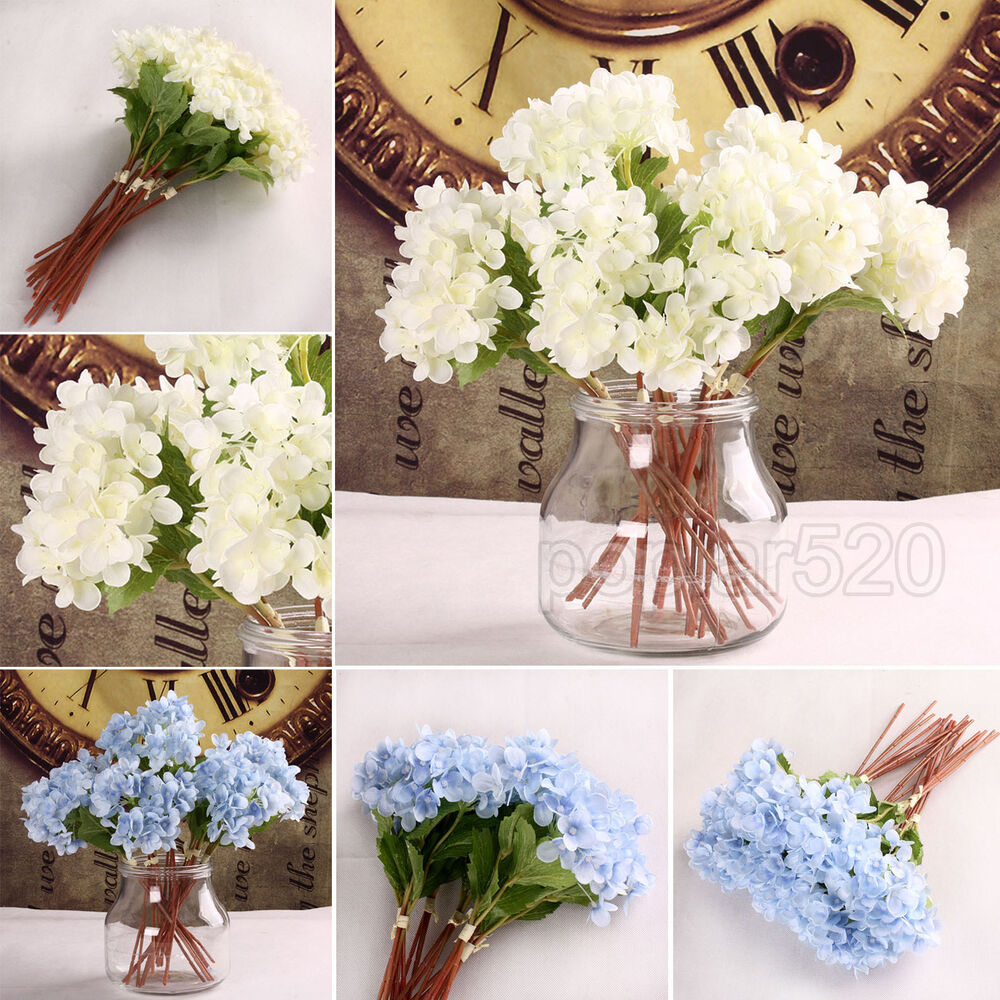 Best Hydrangea Silk Flowers Artificial Home Party Wedding This Month
