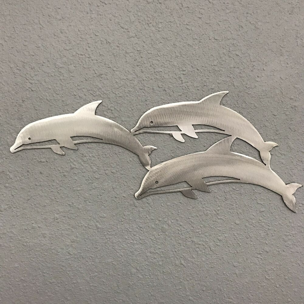 Best Dolphins Metal Wall Art Ocean Nautical Marine Sealife This Month