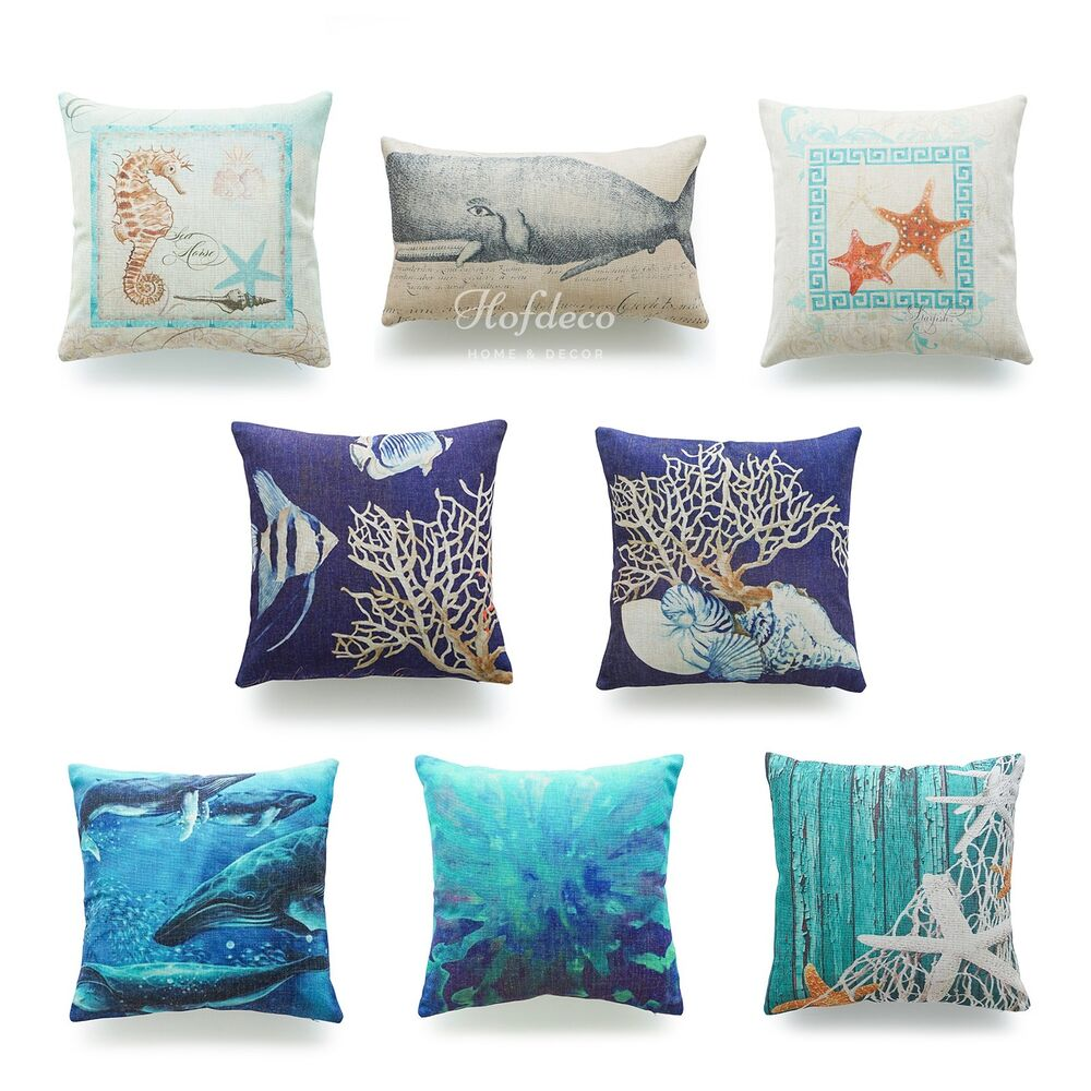Best Decorative Throw Pillow Case Ocean Coastal Beach Nautical This Month