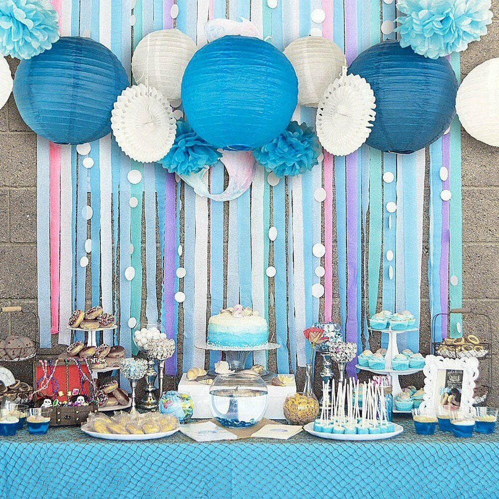 Best 13Pcs Blue Beach Themed Party Paper Crafts Decor For This Month
