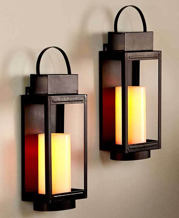 Best Remote Control Led Stagecoach Candle Lantern Wall Sconces This Month