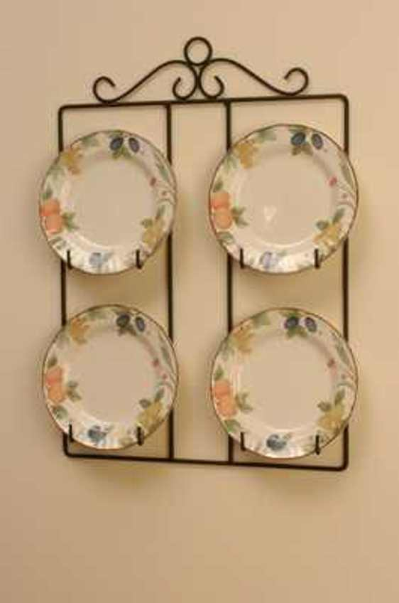 Best Victorian Square 4 Plate Display Holder Wall Hanger 24 This Month