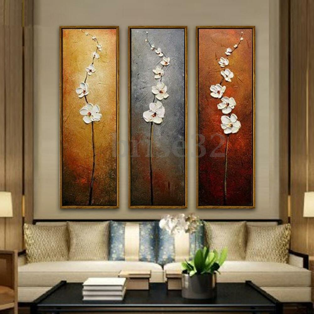 Best 3Pcs Colorful Flower Canvas Abstract Painting Print Art This Month