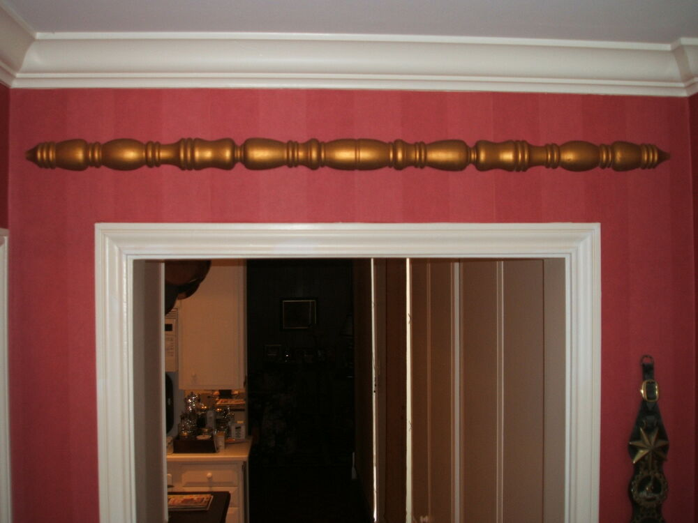 Best Home Decor Decoration Wood Trim Spindle W Gold Leaf This Month