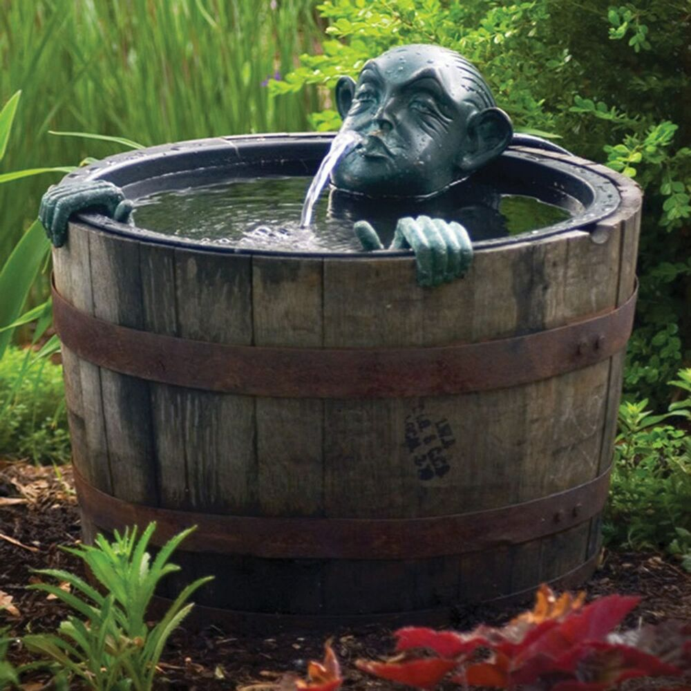 Best Pond Fountain Decorative Man In Barrel Pump Water Feature This Month