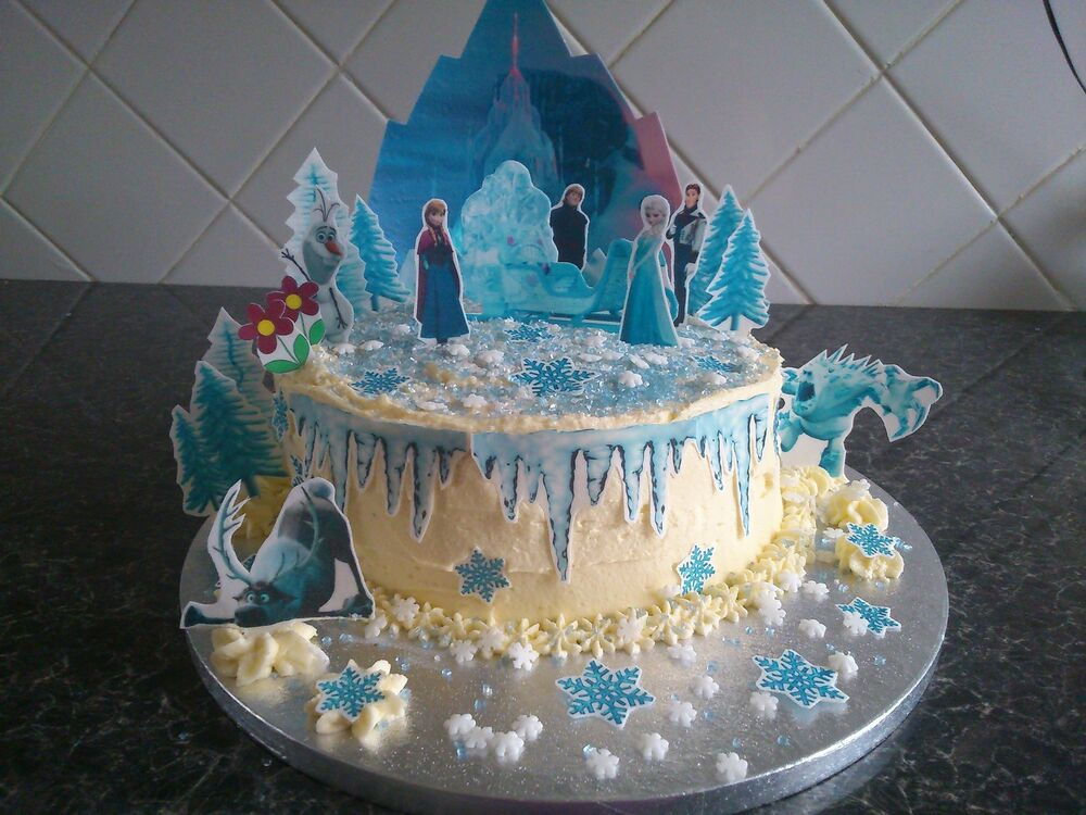 Best Disney Frozen Ice Castle Scene Wafer Edible Cake This Month