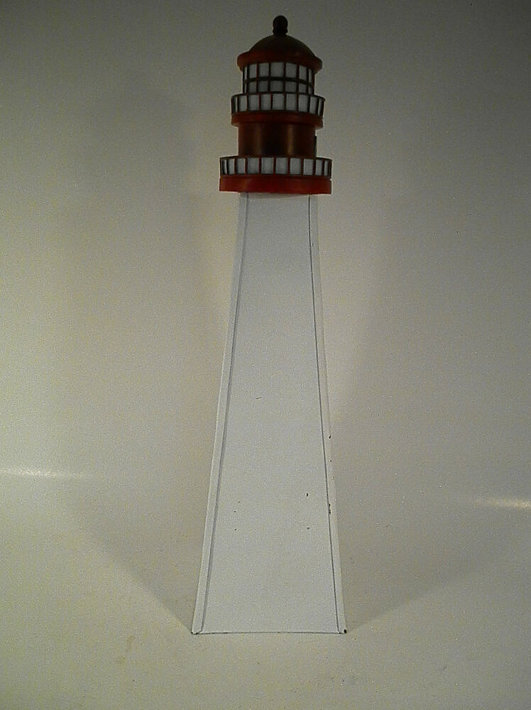 Best Lighthouse Nautical Beach Home Decor Metal Lighthouse New This Month