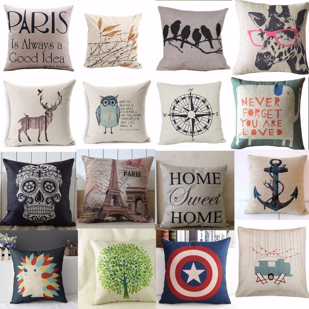 Best Hot Vintage Home Decor Cotton Linen Pillow Case Sofa Waist This Month