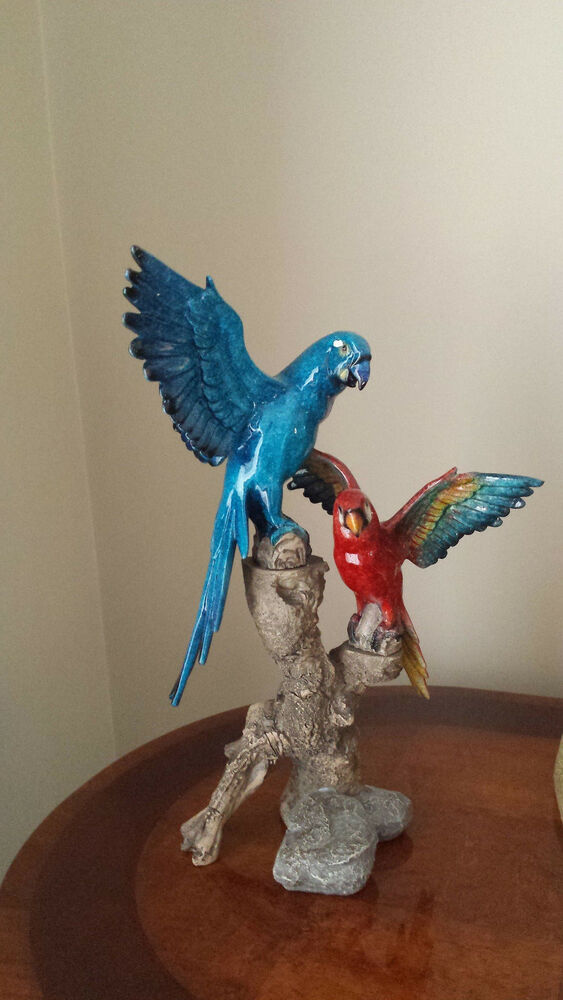 Best Blue And Red Bird Ornament Home Decor Ebay This Month