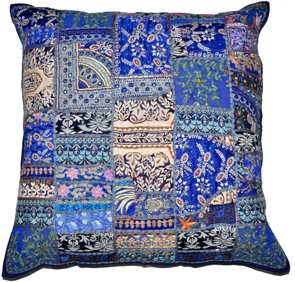 Best 24X24 Decorative Vintage Throw Pillow Indian Patchwork This Month