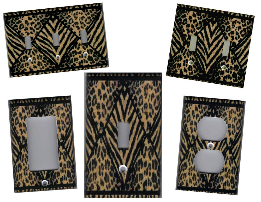 Best Leopard And Tiger Print Home Wall Decor Light Switch Plate This Month