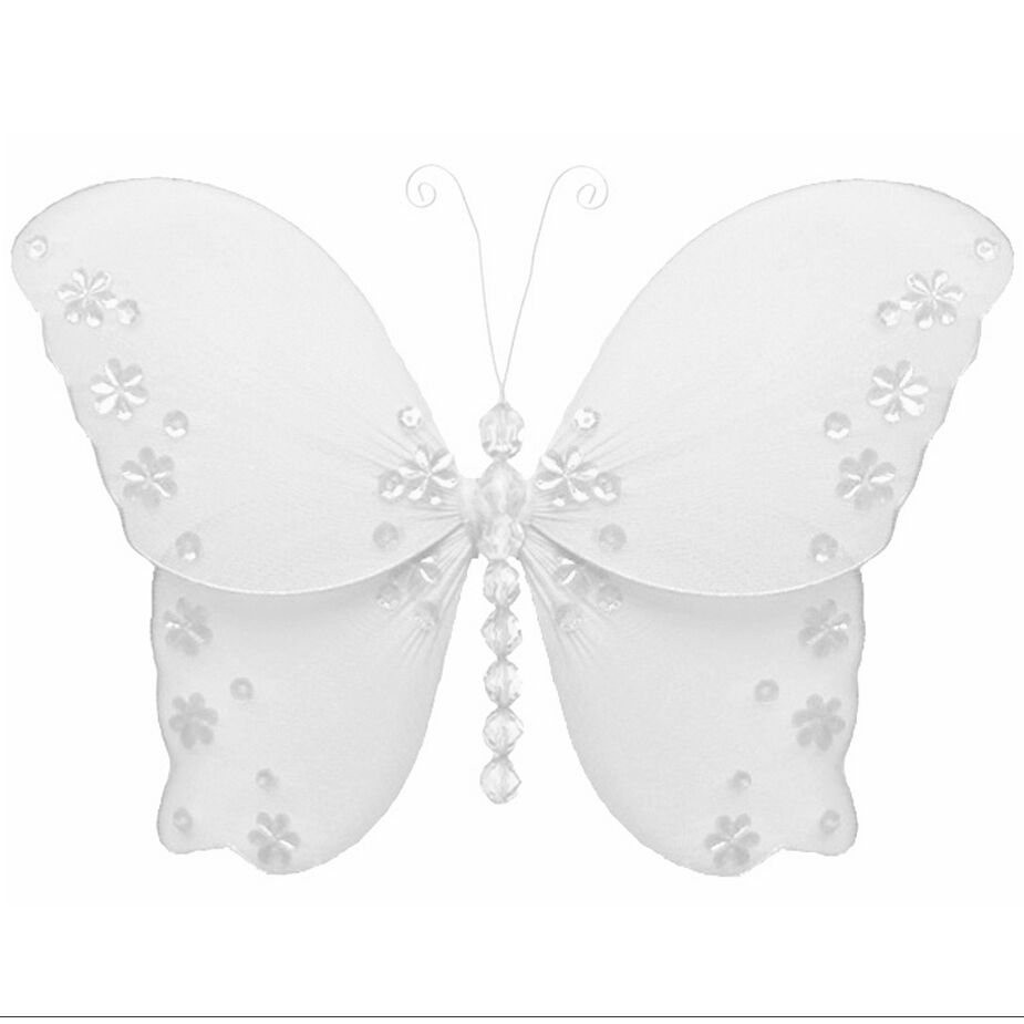 Best Wedding Butterflies White Nylon Hanging Bridal Party This Month