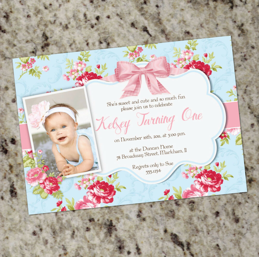 Best Sweet Shabby Chic Party Invitation 1St Birthday Or This Month