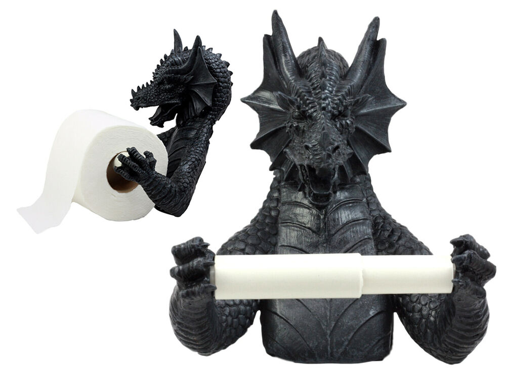 Best Gothic Wingless Dragon Resin Toilet Paper Holder Awesome This Month
