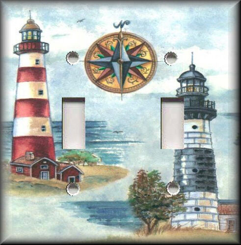 Best Light Switch Plate Cover Nautical Lighthouse Beach This Month