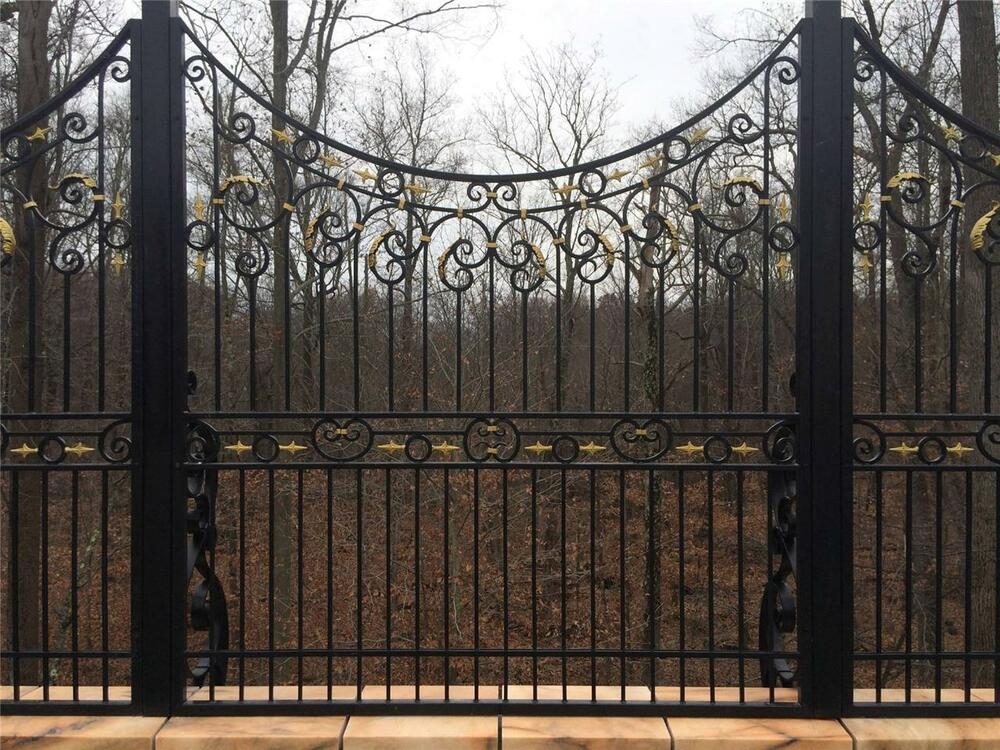 Best Hand Wrought Custom Iron Fence Panels Wrought Iron This Month