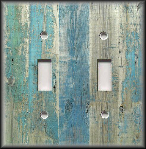 Best Light Switch Plate Cover Beach Aged Wood Image Blue This Month