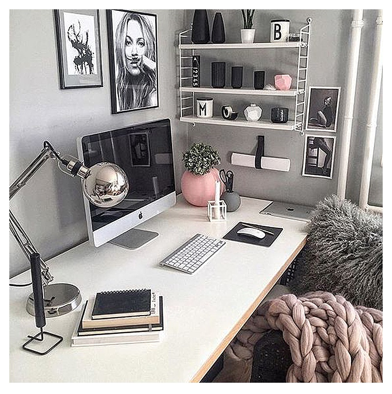 Best Pretty Home Office Ideas For Women Glam Chic Home Office This Month