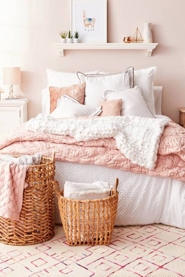 Best Blush Pink Bedroom Ideas Dusty Pink Bedrooms I Love This Month