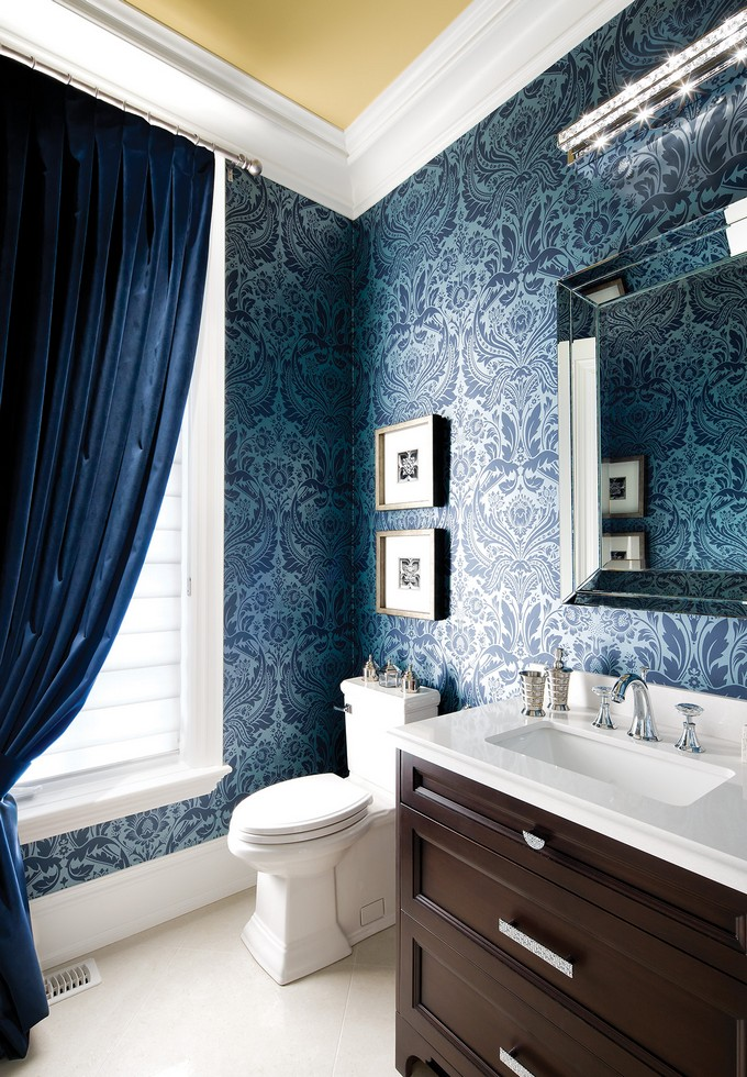 Best Gorgeous Wallpaper Ideas For Your Modern Bathroom This Month