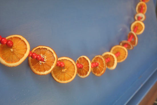 Best Diy Dried Orange And Faux Cranberry Garland – Factory This Month